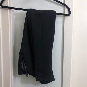 Zara basic thick leggings with zipper detail